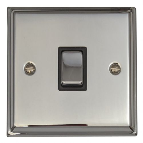 G&H DC305 Deco Plate Polished Chrome 1 Gang Intermediate Rocker Light Switch